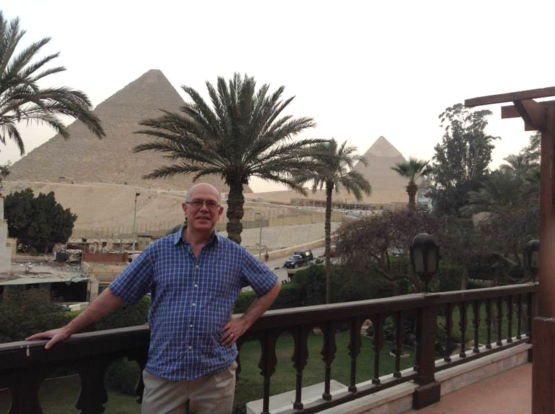Steve Way at Giza Pyramids